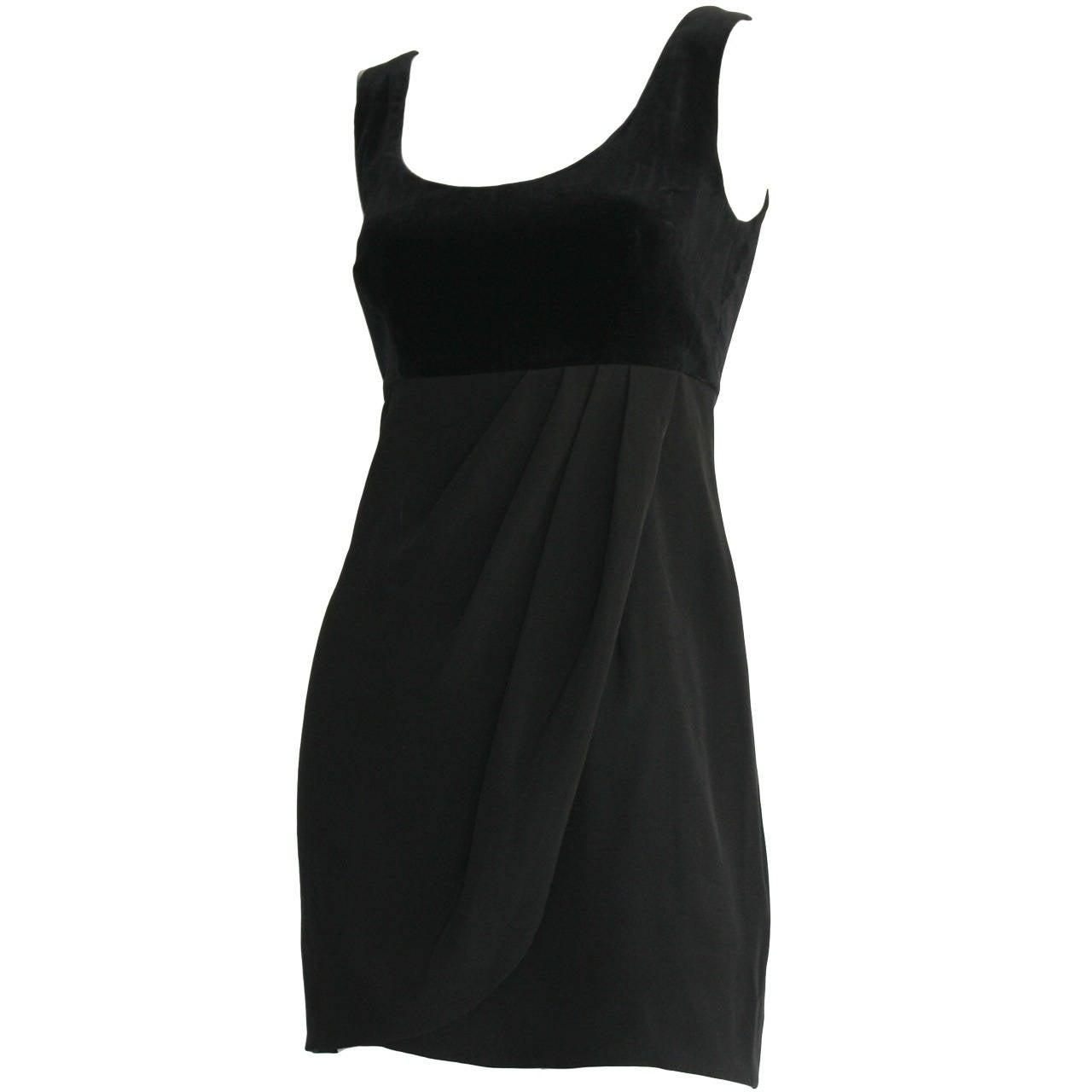 Vintage Guy Laroche Perfect Little Black Dress LBD For Sale at 1stdibs