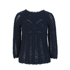 2005 tao COMME des GARCONS Navy Knit Top