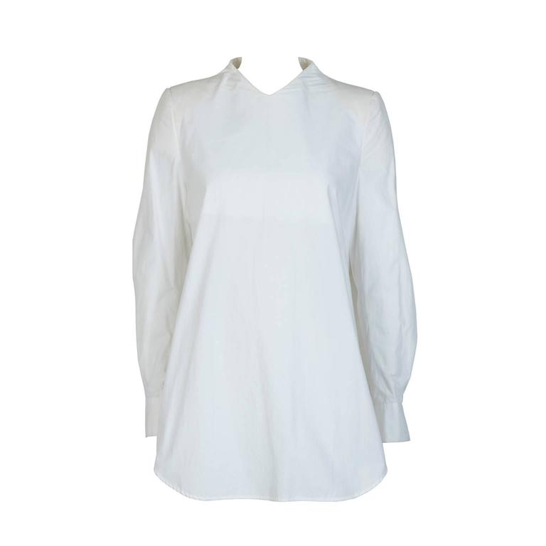 MAISON MARTIN MARGIELA White Cotton Blouse For Sale