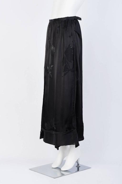 2016SS Yohji Yamamoto Silk Wrap Skirt 2