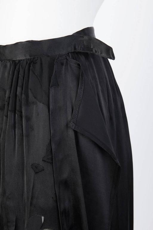 2016SS Yohji Yamamoto Silk Wrap Skirt 5