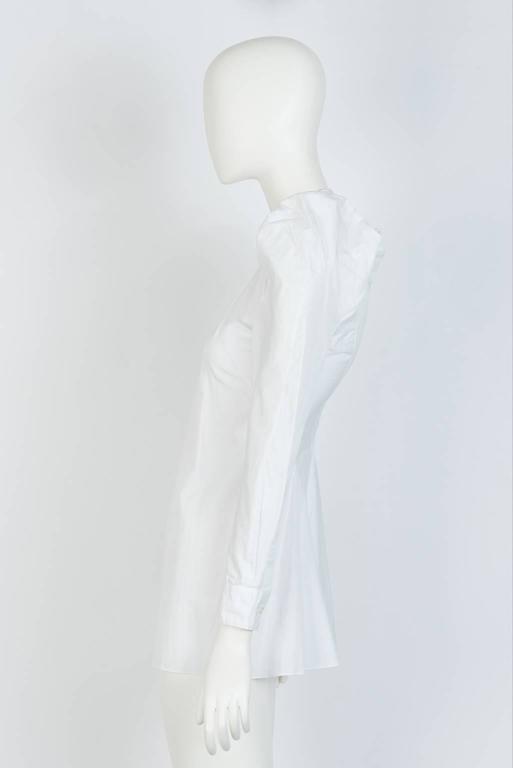 Gray 2009 JUNYA WATANABE  Exaggerated Shoulder Cotton Shirt For Sale
