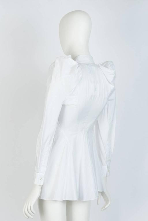 2009 JUNYA WATANABE  Exaggerated Shoulder Cotton Shirt In Excellent Condition For Sale In Xiamen, Fujian