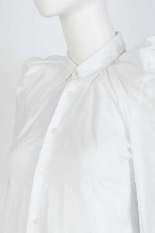 Women's 2009 JUNYA WATANABE  Exaggerated Shoulder Cotton Shirt For Sale