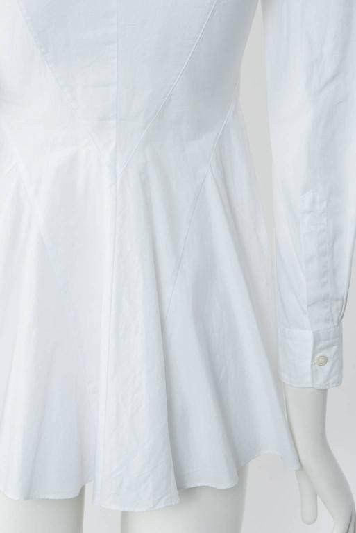 2009 JUNYA WATANABE  Exaggerated Shoulder Cotton Shirt For Sale 1