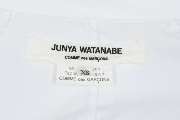 2009 JUNYA WATANABE  Exaggerated Shoulder Cotton Shirt For Sale 2