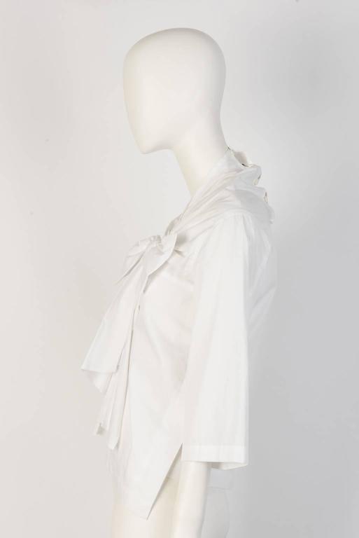 Gray tricot COMME DES GARÇONS Bow Tie Top  For Sale