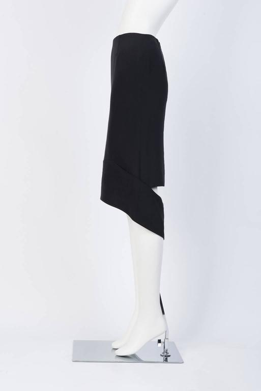 TOM FORD Black Silk Pencil Skirt  In Excellent Condition For Sale In Xiamen, CN