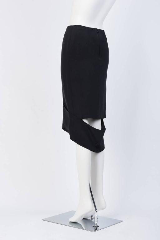 Women's TOM FORD Black Silk Pencil Skirt  For Sale