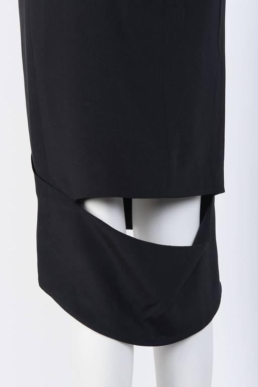 TOM FORD Black Silk Pencil Skirt  For Sale 1