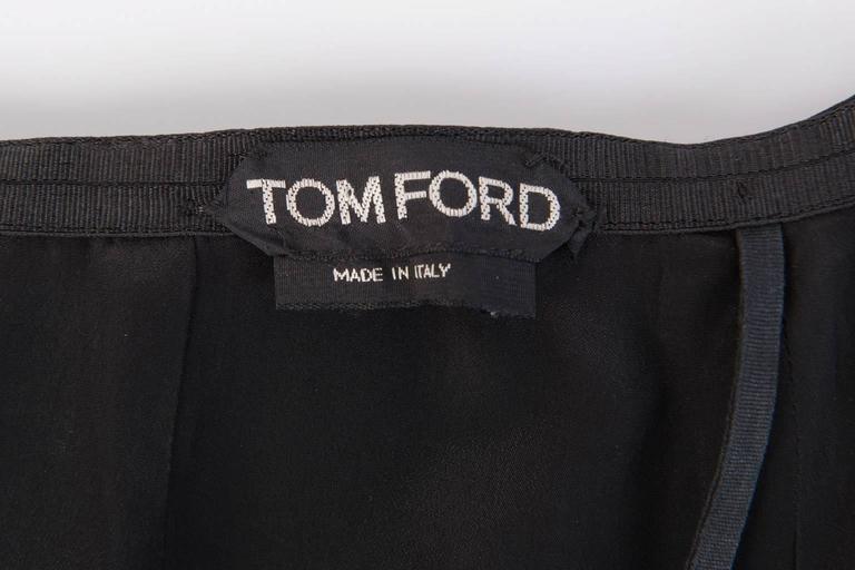 TOM FORD Black Silk Pencil Skirt  For Sale 2