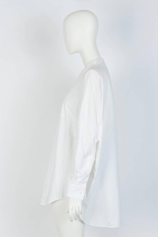 Gray MAISON MARTIN MARGIELA White Cotton Blouse For Sale