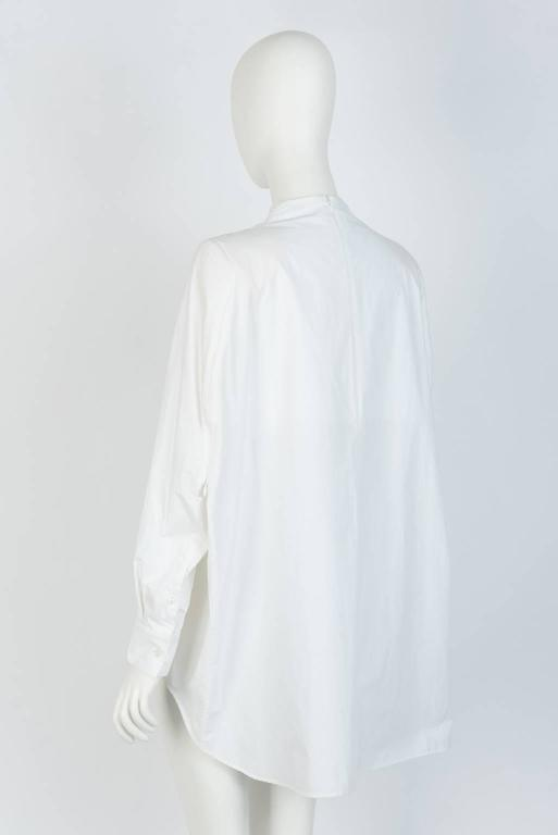 MAISON MARTIN MARGIELA White Cotton Blouse In Excellent Condition For Sale In Xiamen, Fujian