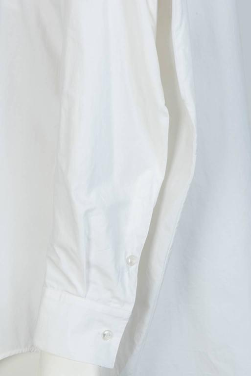 MAISON MARTIN MARGIELA White Cotton Blouse For Sale 2