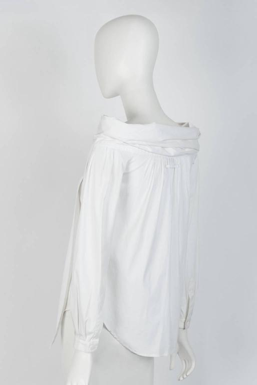 JEAN PAUL GAULTIER White Cotton Blouse  In Excellent Condition For Sale In Xiamen, Fujian