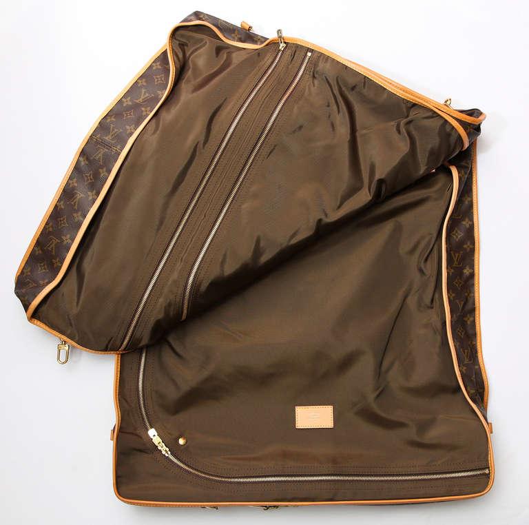 1980s louis vuitton monogram canvas garment bag at 1stdibs