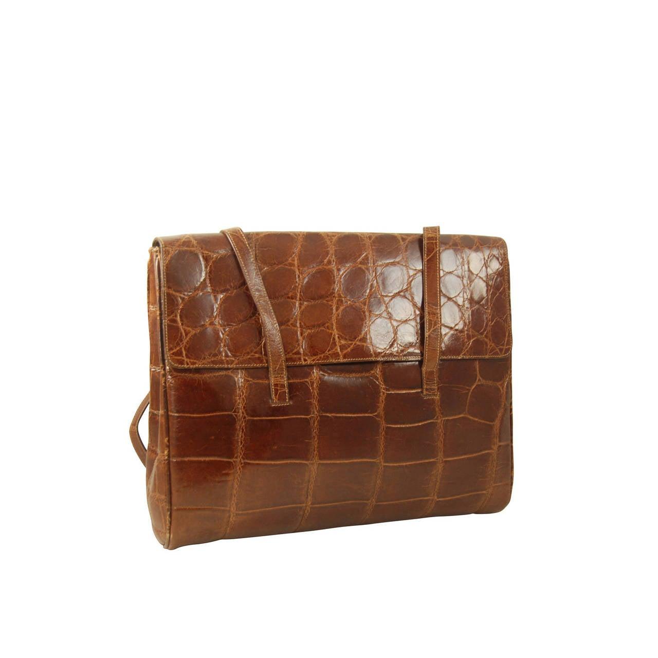 prada alligator shoulder bag