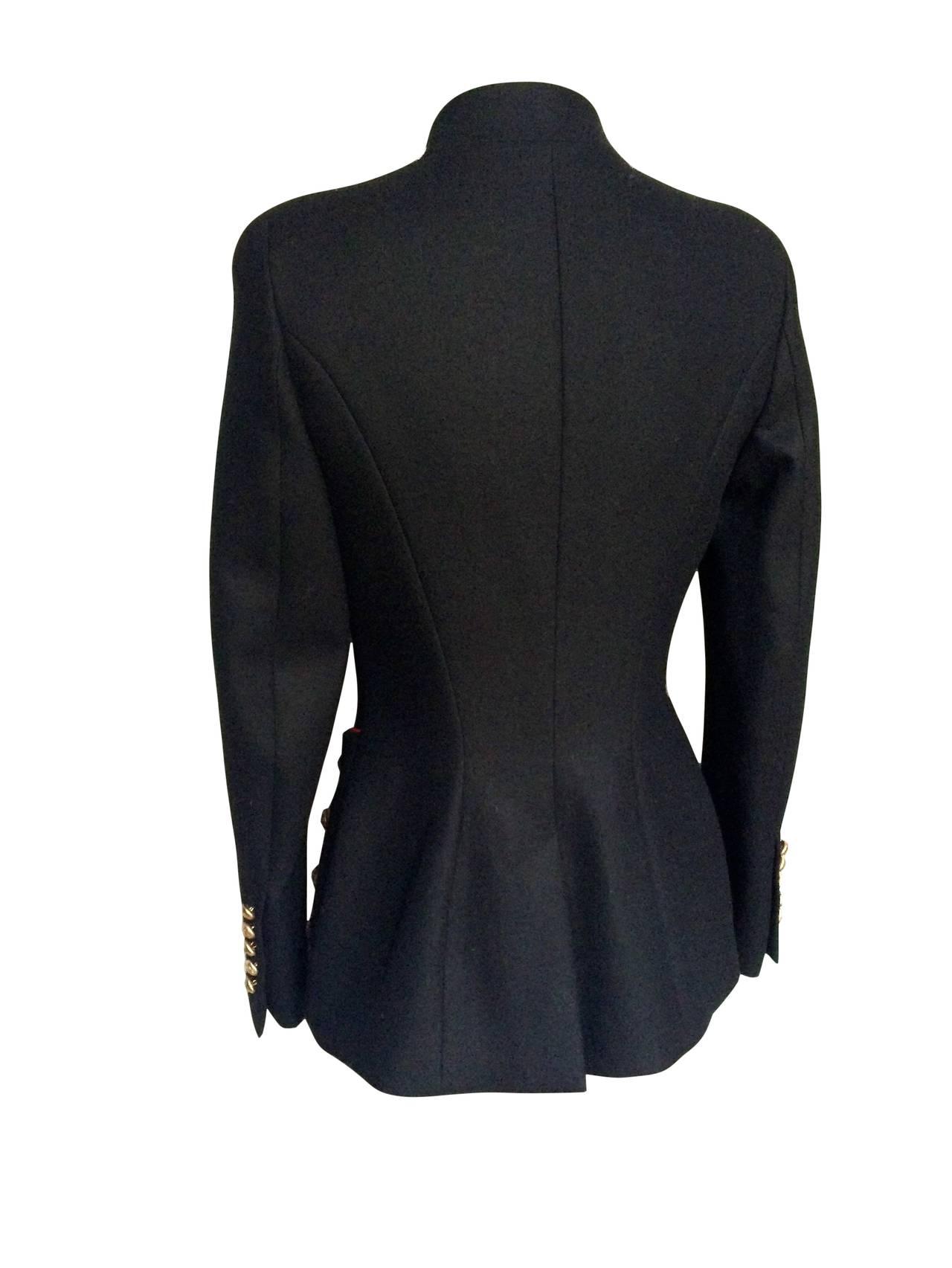 2011 Alexander McQueen Wool Jacket For Sale 3
