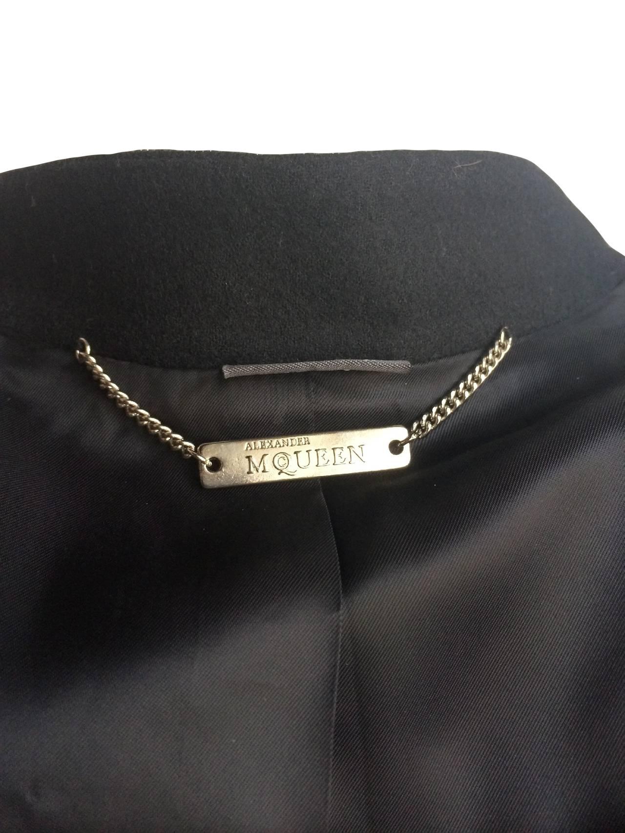 2011 Alexander McQueen Wool Jacket For Sale 4