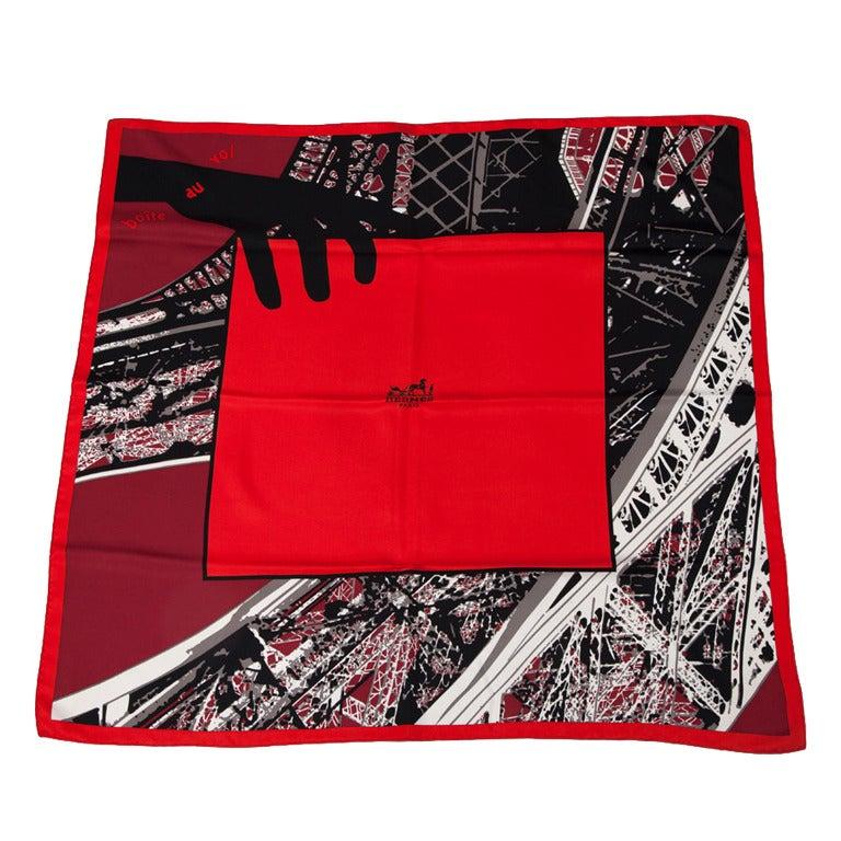 hermes bo te au vol silk twill carr scarf at 1stdibs. Black Bedroom Furniture Sets. Home Design Ideas