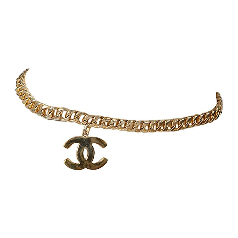 Chanel Goldtone Link Chain Belt 1