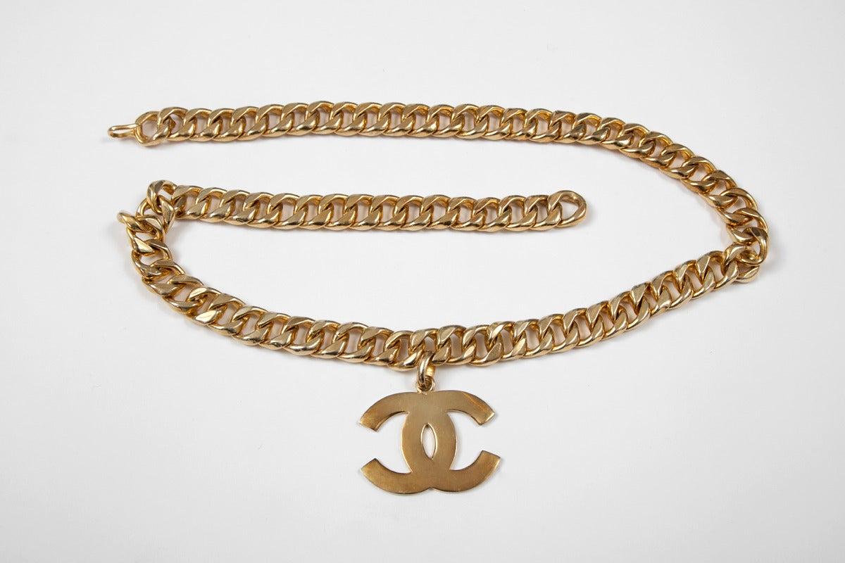 Chanel Goldtone Link Chain Belt 2