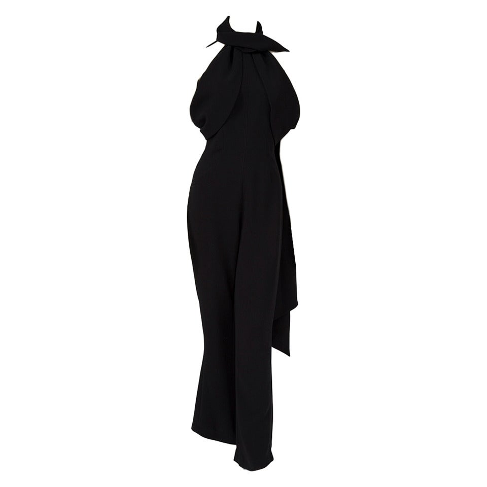 Thierry Mugler Silk Crepe Jumpsuit For Sale