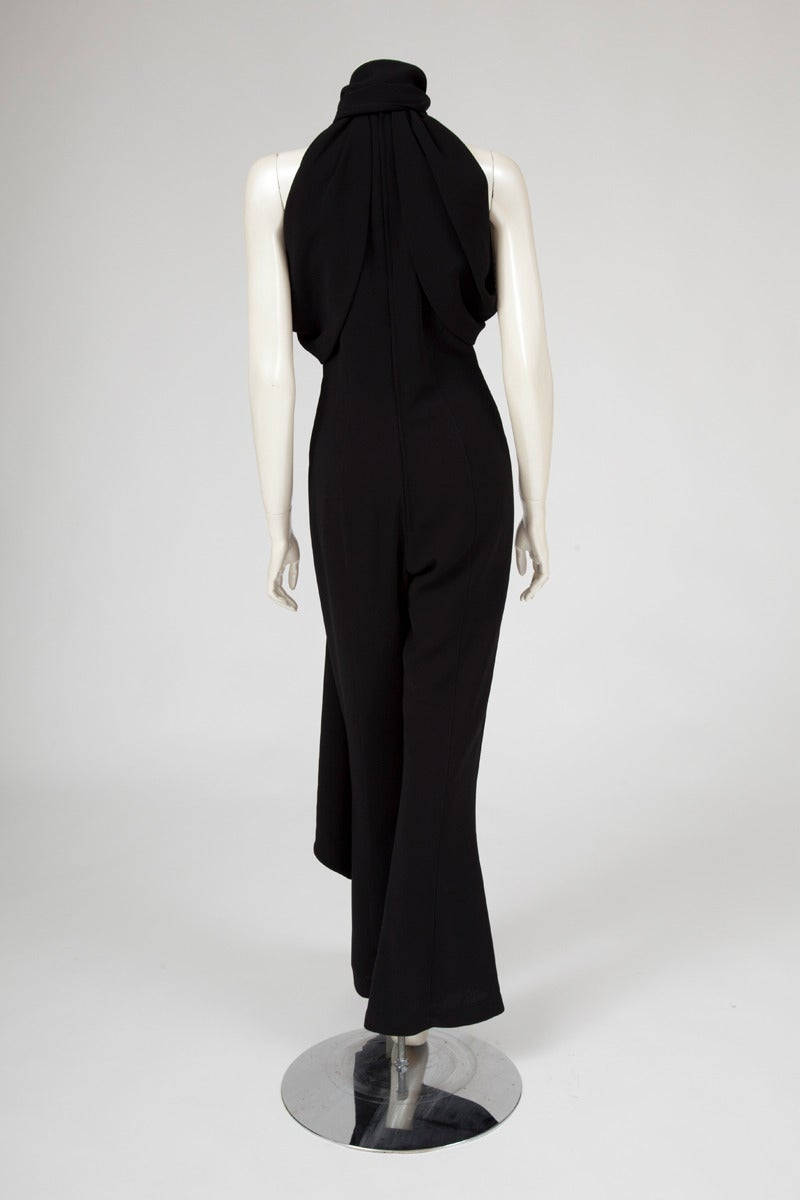 Thierry Mugler Silk Crepe Jumpsuit For Sale 1