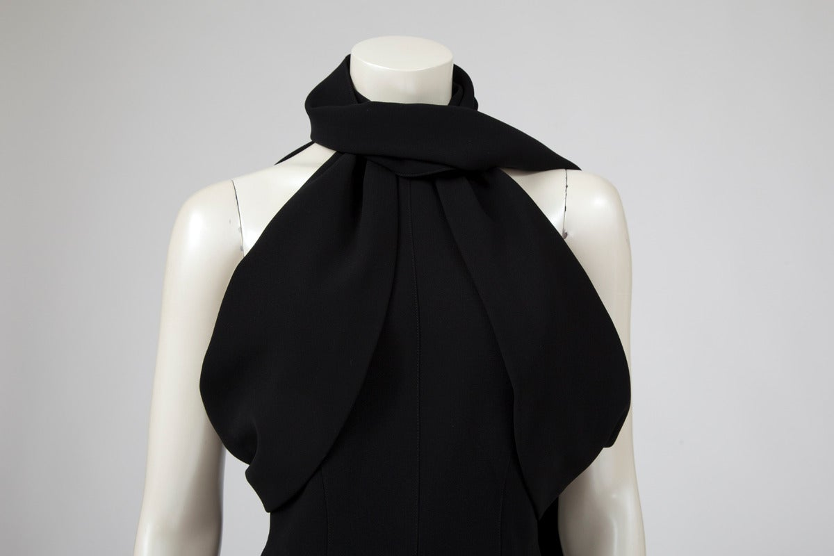 Black Thierry Mugler Silk Crepe Jumpsuit For Sale
