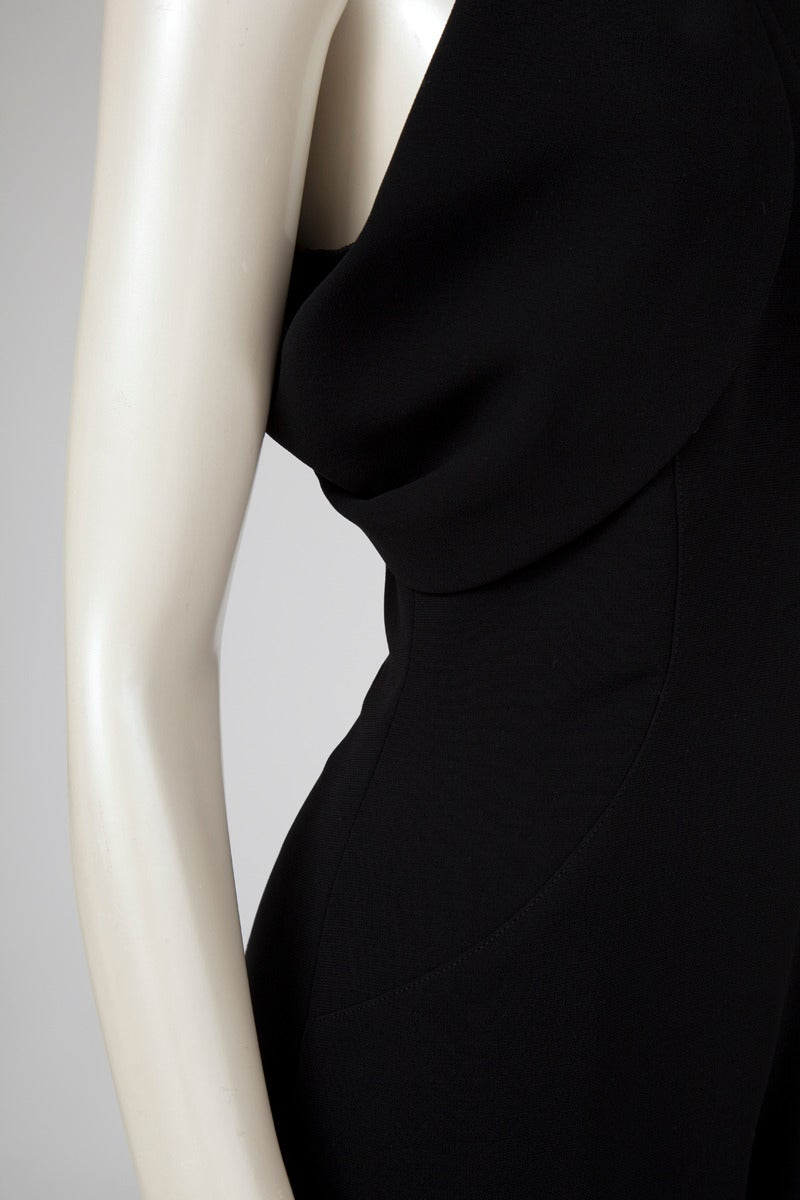 Women's Thierry Mugler Silk Crepe Jumpsuit For Sale