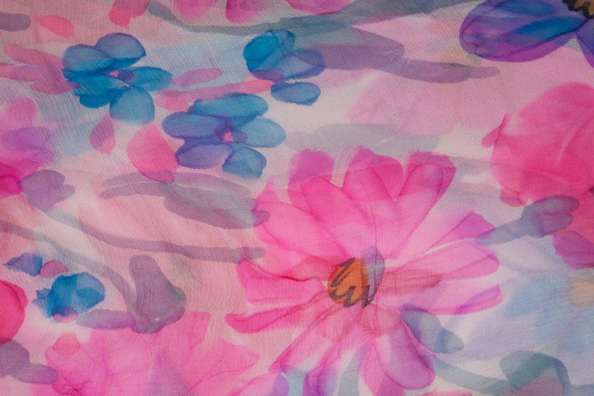 Jean Patou Printed Silk Chiffon Caftan For Sale 4