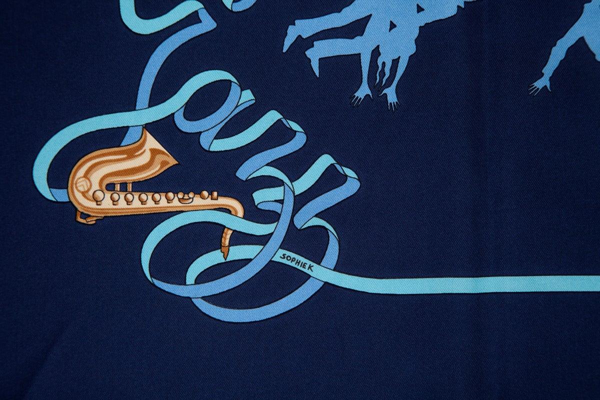 "2003 Hermes ""Boogie Woogie"" Silk Twill Carré Scarf 3"