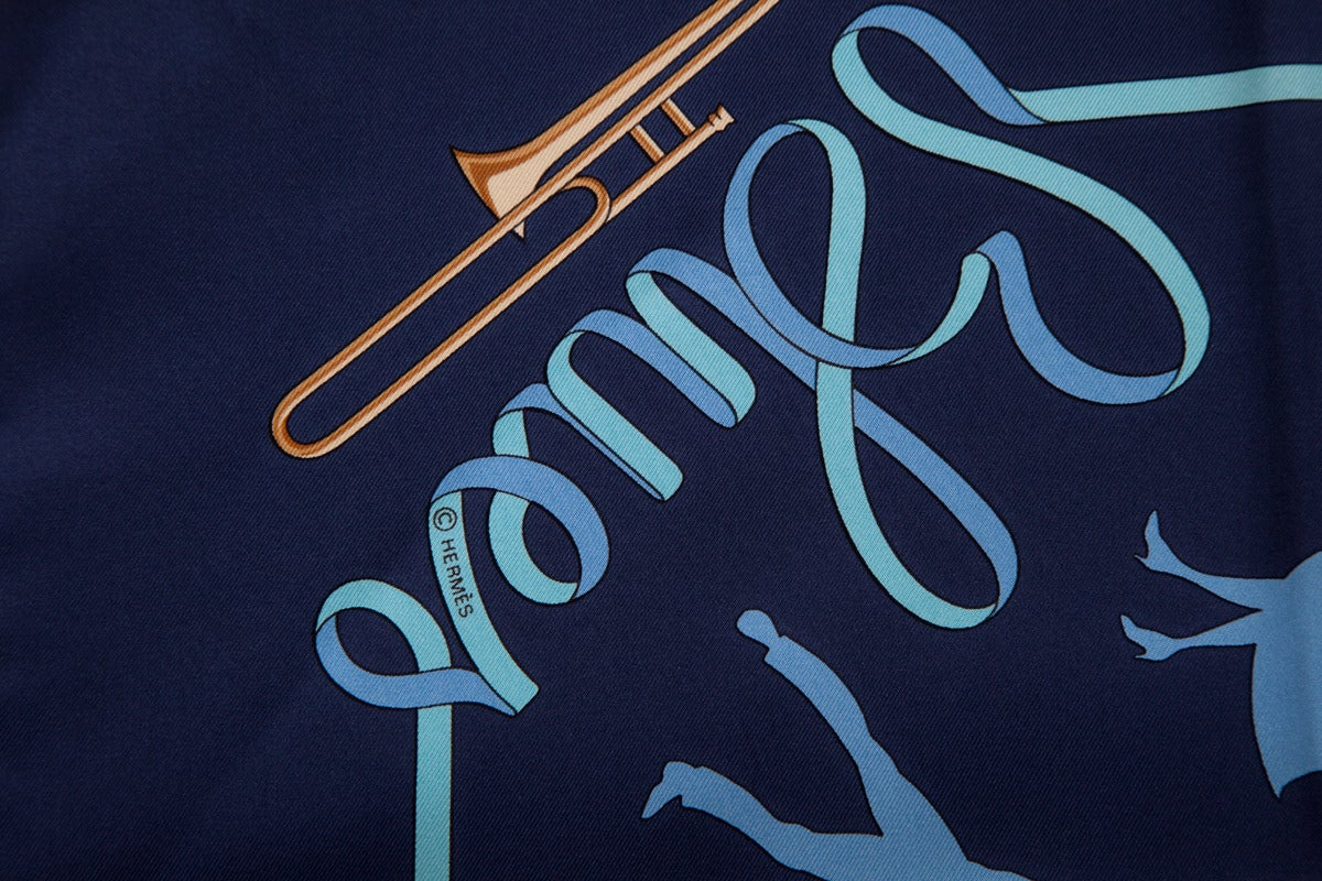 "2003 Hermes ""Boogie Woogie"" Silk Twill Carré Scarf 5"