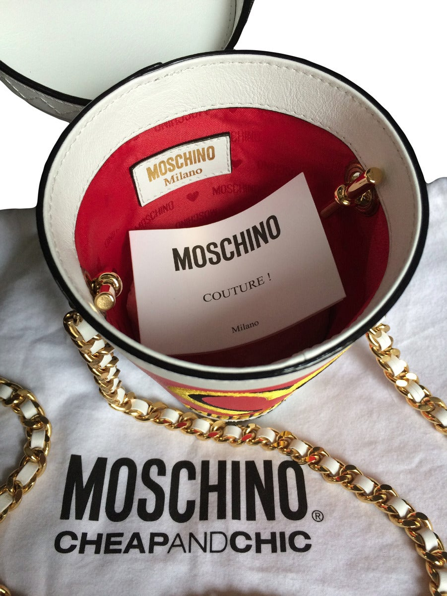 Moschino Couture ! Milkshake Leather Crossbody Bag 5