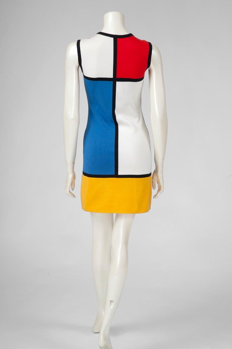 """Yves Saint Laurent """"Mondrian"""" Cotton Dress 3"""