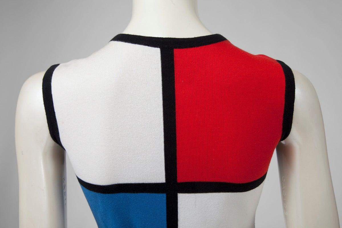 """Yves Saint Laurent """"Mondrian"""" Cotton Dress 4"""