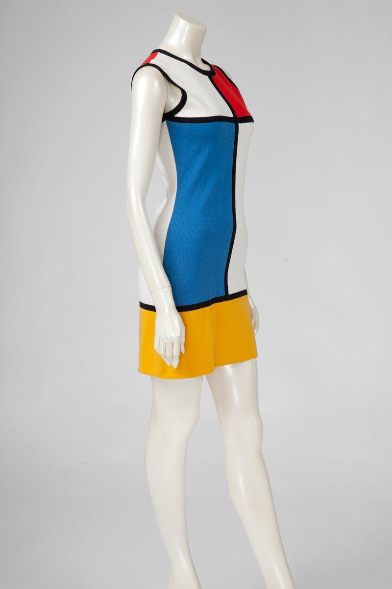 """Yves Saint Laurent """"Mondrian"""" Cotton Dress 2"""