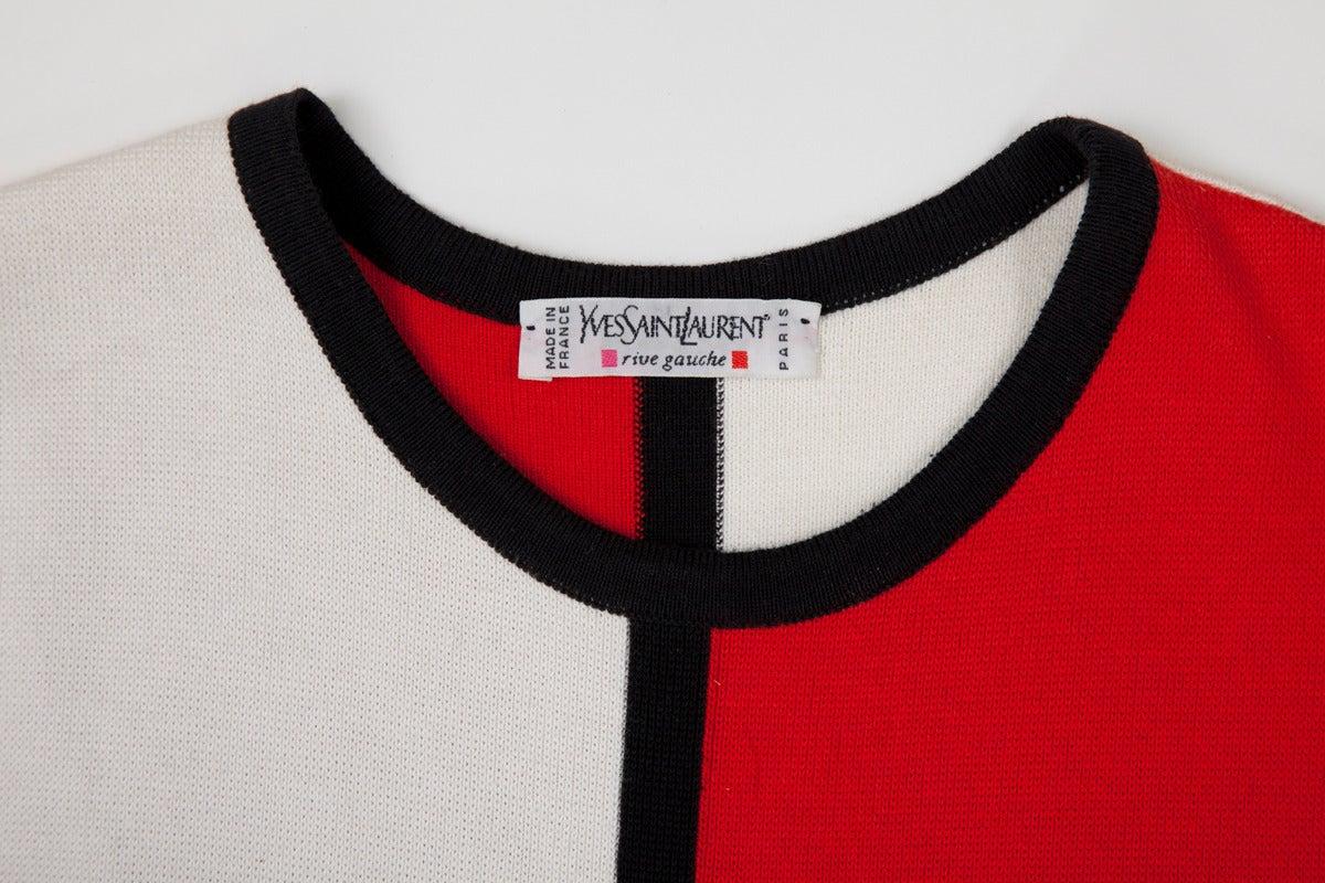 """Yves Saint Laurent """"Mondrian"""" Cotton Dress 8"""
