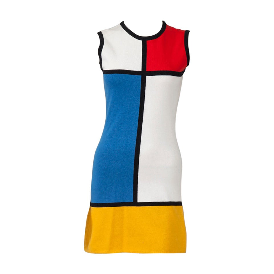 Yves Saint Laurent Mondrian Cotton Dress At 1stdibs