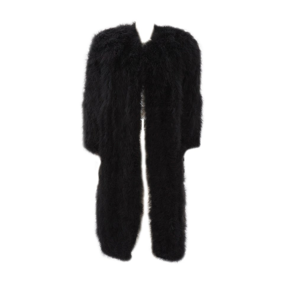 Sonia Rykiel Marabou Feather Coat For Sale