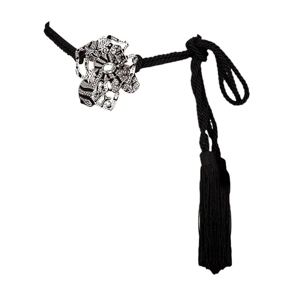 New Valentino Flower Tassel Belt For Sale