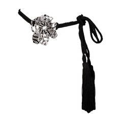 New Valentino Flower Tassel Belt