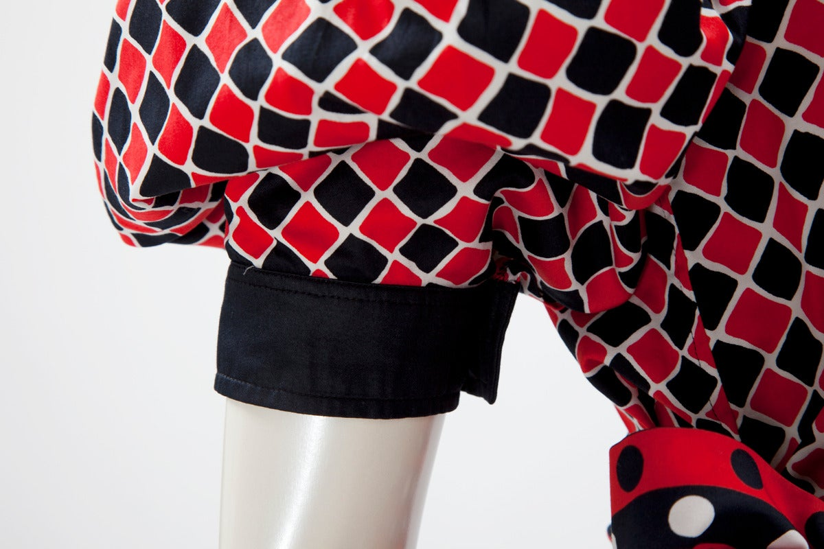 Yves Saint Laurent Harlequin Cotton Ensemble In Excellent Condition For Sale In Geneva, CH