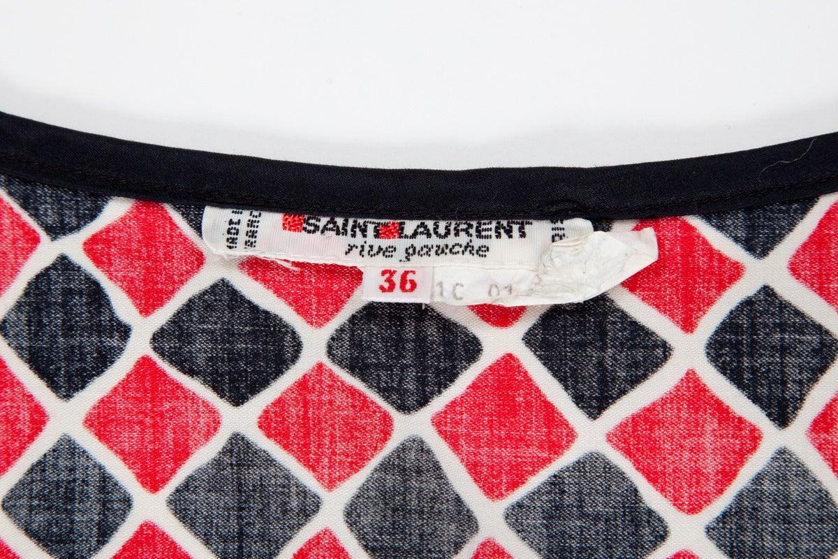 Yves Saint Laurent Harlequin Cotton Ensemble For Sale 4