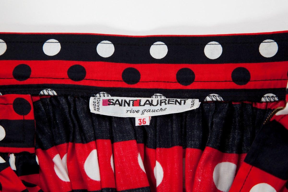 Yves Saint Laurent Harlequin Cotton Ensemble For Sale 5