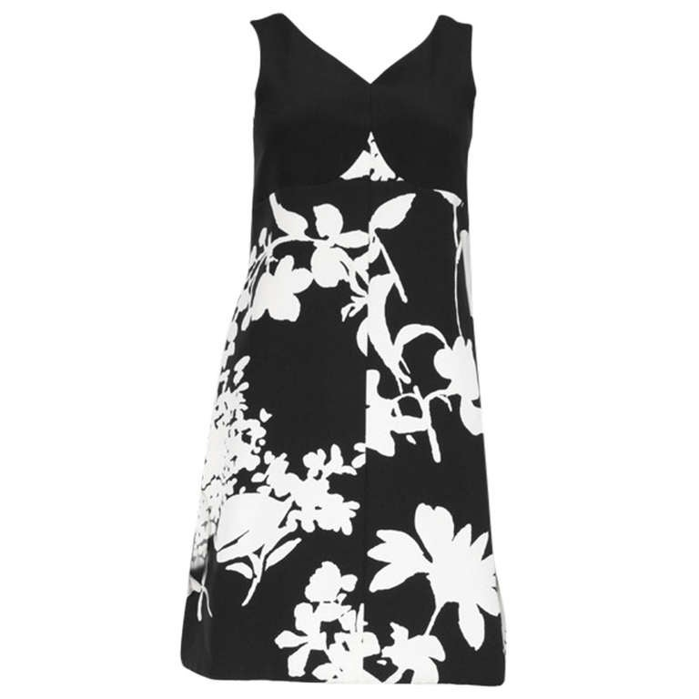 Ungaro Attributed Haute Couture A-Line Silk Crepe Cocktail Dress