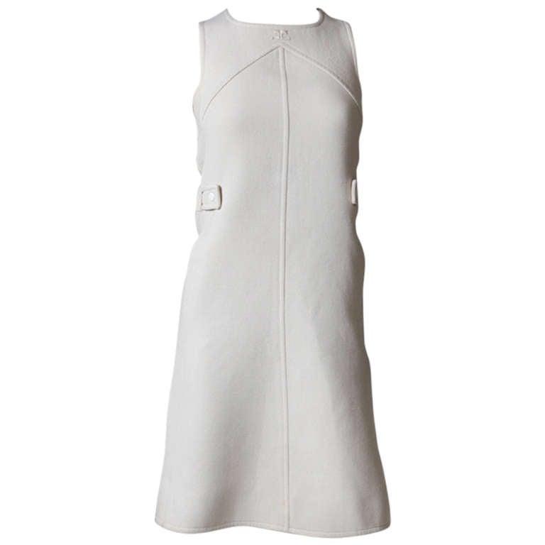 Courreges Wool Jumper Dress