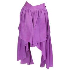 Chanel Organza Asymmetrical Skirt