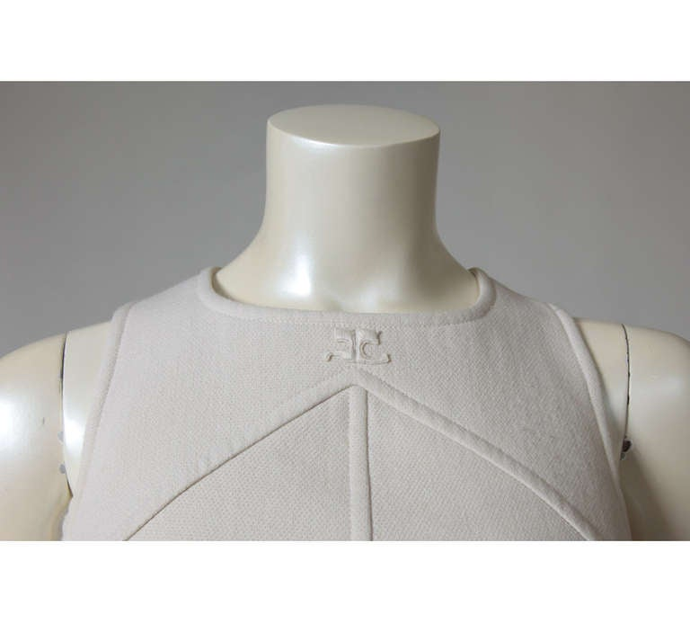 Gray Courreges Wool Jumper Dress For Sale