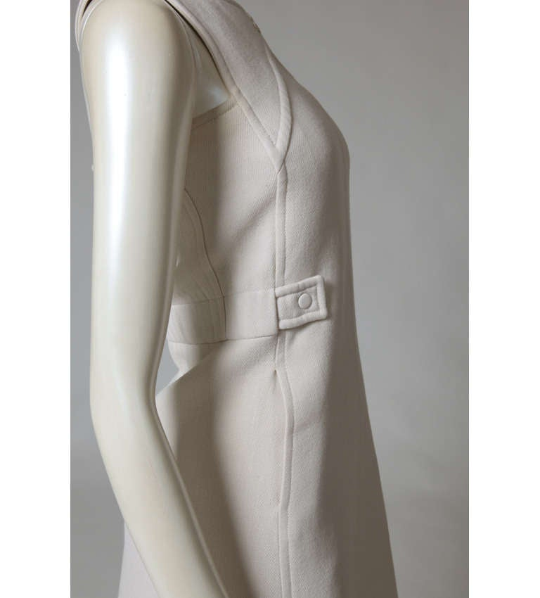Courreges Wool Jumper Dress In Good Condition For Sale In Geneva, CH